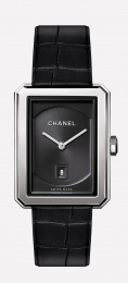 Chanel Black Guilloche Dial Ladies Watch H4884