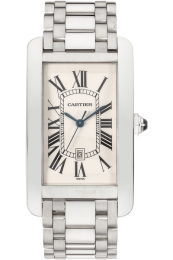 Cartier Americaine Large Size White Gold Automatic W26032L1