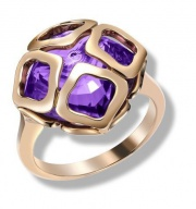 Imperiale Cutout Amethyst Rose Gold Ring 829221-5039