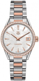 Tag Heuer WOMEN'S CARRERA DIAMOND & ROSE GOLD WATCH 32MM WAR1353.BD0779