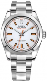 Rolex 116400 WHITE ORANGE 40MM 116400