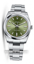 Rolex Oyster Perpetual No-Date 34mm, Olive Green Dial,Oyster Bracevlet 114200