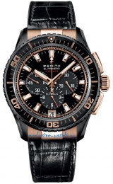 Zenith STRATOS FLYBACK BLACK TIALUM ROSE GOLD 85.2060.405/23.C714