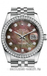 Rolex Datejust Lady 36 dark mother of pearl diamond dial Jubilee 116244