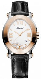 Chopard Oval Quartz Ladies Watch 278546-6001