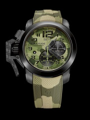 Graham Chronofighter Oversize Black Arrow 2CCAU.G02B
