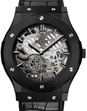 Hublot Classic Fusion 45 mm Ultra-Thin Skeleton All Black 515.CM.0140.LR
