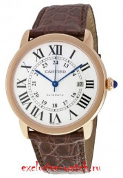 Cartier RONDE SOLO X-LARGE AUTOMATIC 42MM MENS ROSE GOLD W6701009