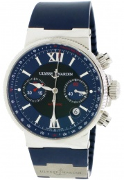 Ulysse Nardin MARINE COLLECTION MAXI MARINE CHRONOGRAPH BLUE DIAL 41MM 353-66-3323