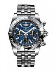 Breitling Chronomat 44 Automatic Chronograph Blue Dial Men's Watch AB011012-C789SS