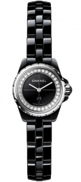 Chanel Black Dial Ladies Ceramic Watch H5235