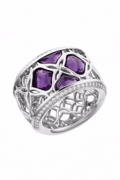 IMPERIALE LACE WHITE GOLD RING 829564-1010