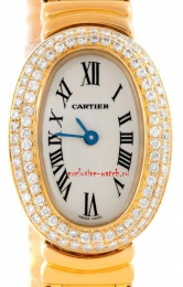 Cartier 1950 FULL DIAMOND CASE ON BRACELET GOLD WB5094D8
