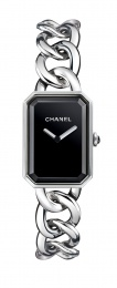 Chanel Black Dial Stainless Steel Ladies Watch H3250