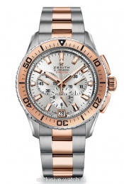 Zenith STRATOS FLYBACK SILVER STEEL ROSE GOLD BICOLOR 45.5 ММ 51.2061.405 / 01.M2060