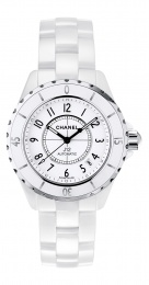 Chanel Automatic White Dial White Ceramic Watch H0970