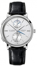 A. Lange & Sohne Dual Time 38.5mm Mens Watch White Gold 386.026