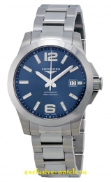Longines CONQUEST BLUE DIAL AUTOMATIC STAINLESS STEEL MEN'S WATCH L36764996