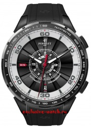 Perrelet Turbine Chronograph Black and White Dial Automatic A1075/1