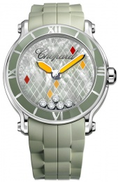 Chopard Happy Sport Round XL 5 Diamonds Limited Edition 500 288524-3003