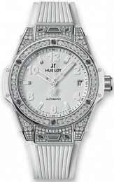 Hublot One Click Steel White Pave 465.SE.2080.RW.1604
