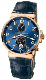 Ulysse Nardin MAXI MARINE CHRONOMETER 41MM ROSE GOLD WITH BLUE DIAL  266-66/623