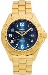 Breitling Yellow Gold Blue Dial K10040