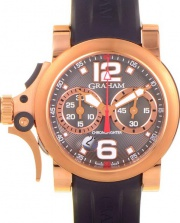 Graham Chronofighter R.A.C. Trigger Rose Gold on Strap 2TRAR.B05A.C86B