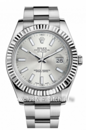 Rolex Oyster Perpetual Datejust II Silver Dial 116334