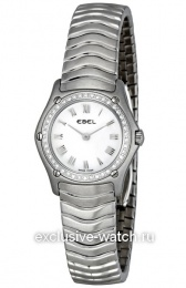Ebel Classic Wave Mother of Pearl Dial Diamond Bezel Ladies 9157F14-9225