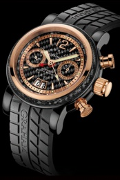 Graham GRAND SILVERSTONE WOODCOTE II BLACK PVD AND RED GOLD 2GSIUBR.B07A.K07B