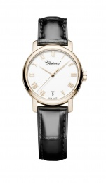 Chopard White Dial 18kt Rose Gold Automatic Ladies Watch 124200-5001
