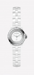 Chanel White Dial Ladies Ceramic Watch H5237