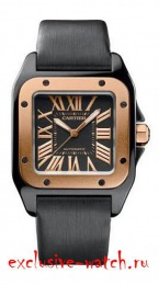 Cartier SANTOS DE CARTIER SANTOS 100 LARGE MENS ROSE GOLD 43MM W2020009