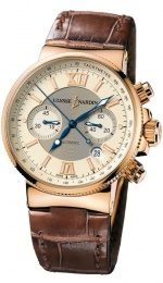 Ulysse Nardin MARINE COLLECTION MAXI MARINE CHRONOGRAPH ROSE GOLD 41MM 356-66/354